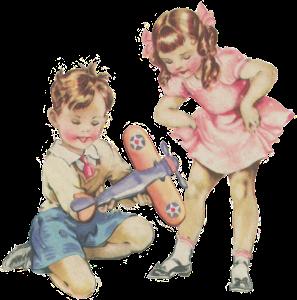 Boy and girl light